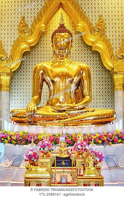 The golden buddha at Wat Traimit, Bangkok, Thailand