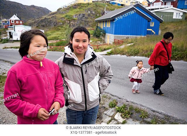 Girls in Qaqortoq Julianehåb, South Greenland