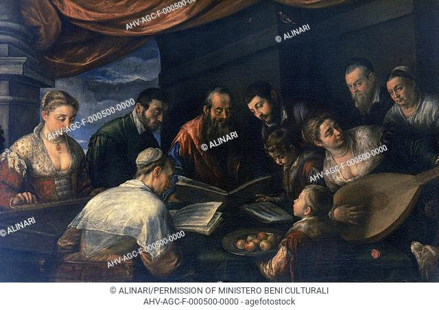 The concert', painting by Leandro Bassano in the Uffizi Gallery in Florence (1590), shot 1990 by Lorusso, Nicola for Alinari