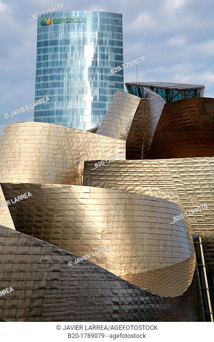 Guggenheim museum, Bilbo-Bilbao, Biscay, Basque Country, Spain
