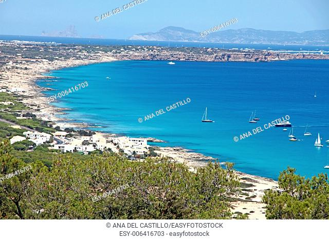 Formentera coast Balearic islands Spain