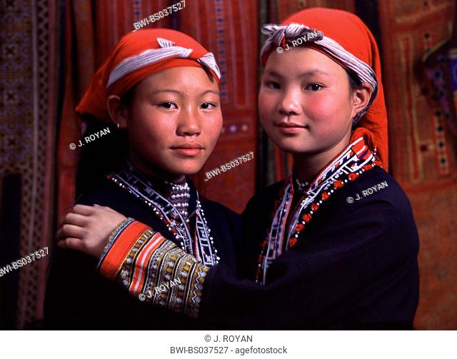 two Dai girls, Vietnam