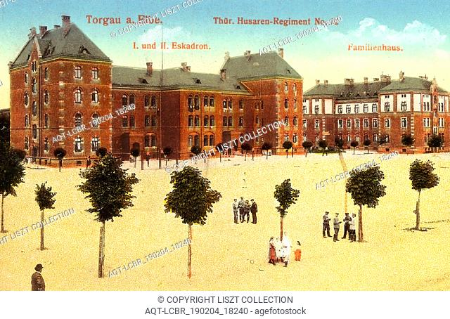 Thüringisches Husaren-Regiment Nr. 12, Buildings in Torgau, Barracks in Saxony, 1915, Landkreis Nordsachsen, Torgau, Thüringer Husaren, Regiment Nr