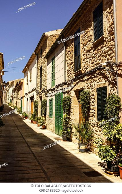 calle tipica, Alcudia,Majorca, Balearic Islands, Spain