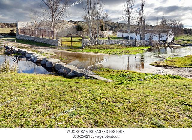 Farm near Villapalos river in San Pablo de los Montes. Toledo. Castilla la Mancha. Spain. Europe