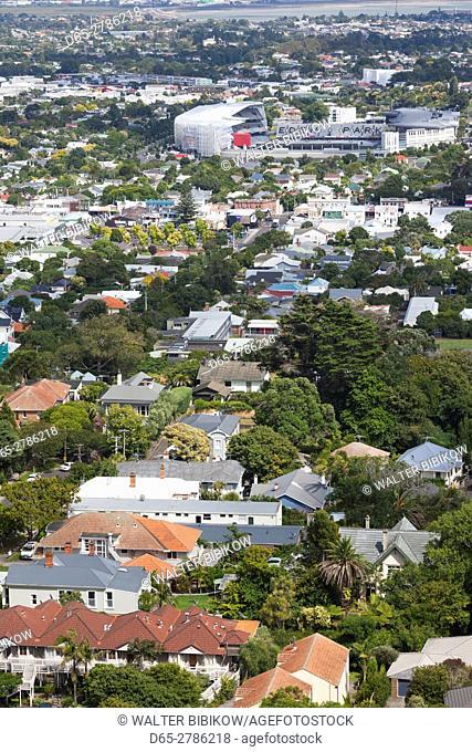 New Zealand, North Island, Auckland, Eden Park, largest sports stadium in NZ, elevated view