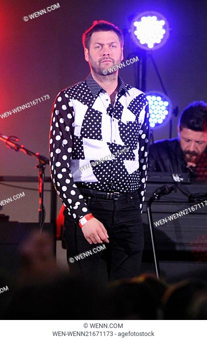 Kasabian performing on The One Show on BBC One Featuring: Tom Meighan Where: London, United Kingdom When: 03 Sep 2014 Credit: WENN.com
