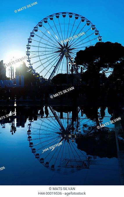 Ferris wheel In Dusk In Nice, Provence-Alpes-Côte d'Azur, France