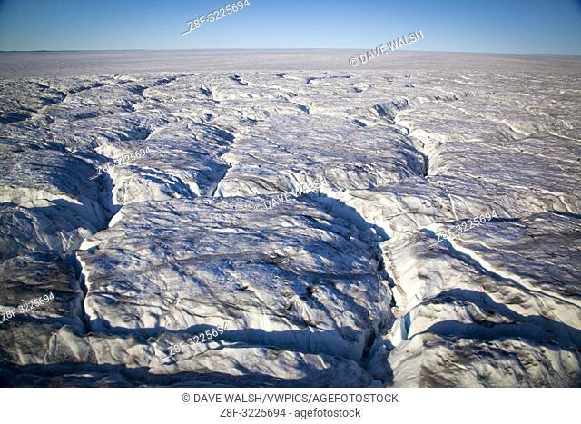 Sermersuaq or Humboldt Glacier, in Kane Basin, northwest Greenland, is the Northern Hemisphere's widest tidewater glacier spanning 110km at its front