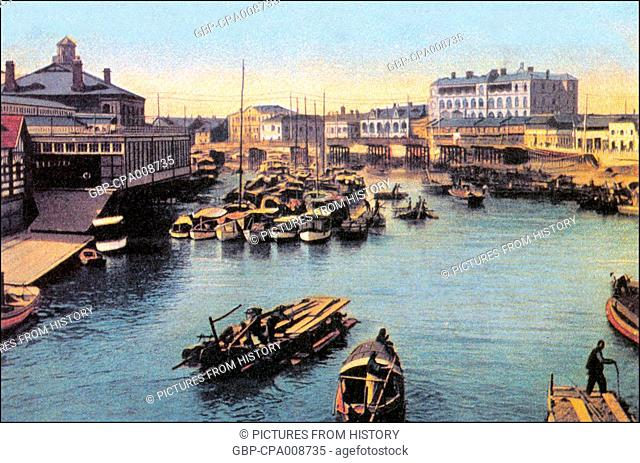 China: Suzhou Creek and Shanghai Rowing Club c.1920