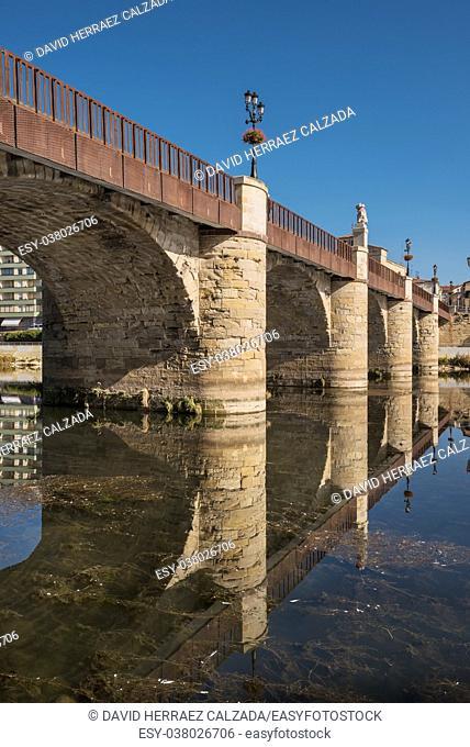 Bridge over Ebro river in Miranda de Ebro, Burgos, Spain
