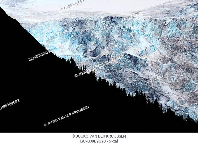 Glacier, Prince William Sound, Whittier, Alaska, United States, North America