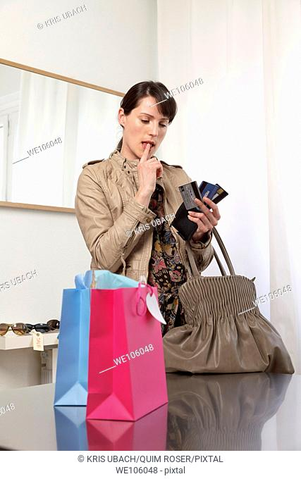 Woman in a clothes shop