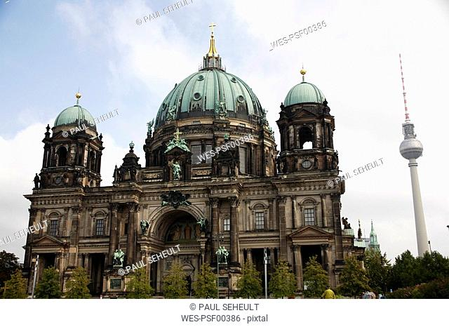 Germany, Berlin, Cathedral with TV Tower