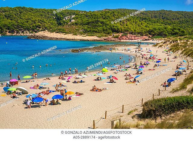 Cala Algaiarens beach. Es Tancats beach. Ciutadella de Menorca Municipality. Minorca. Balearic Islands. Spain
