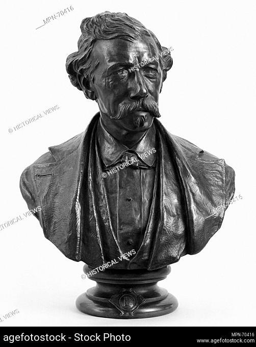Henry Bradley Plant. Artist: Olin Levi Warner (American, West Suffield, Connecticut 1844-1896 New York); Date: 1874; Medium: Bronze; Dimensions: 24 x 19 x 8 in