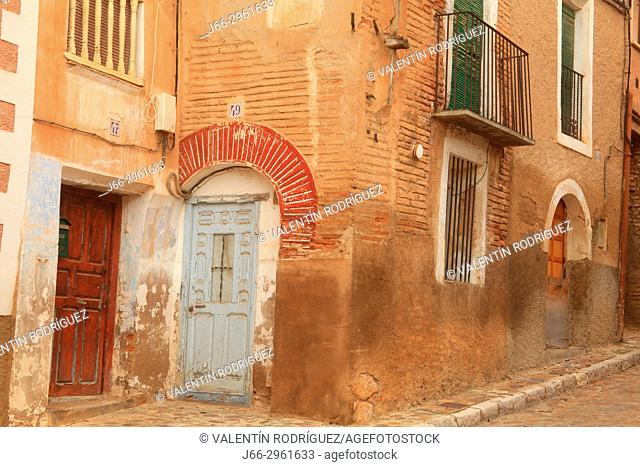 Street in the neighborhood of the jewish in Daroca. Zaragoza. Aragon. Spain