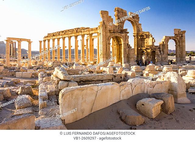 Monumental Arch of the ruins at Palmyra, Syria