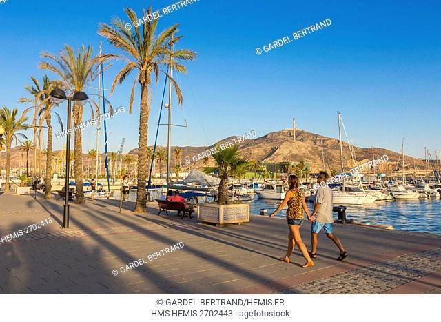 Spain, Murcia Community, Cartagena, Pier