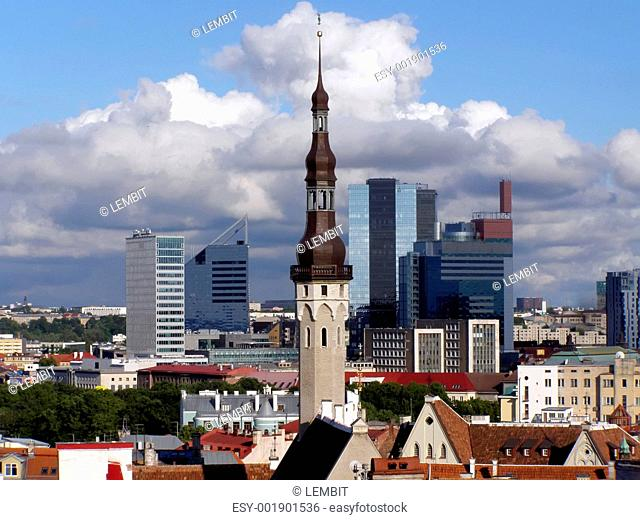 Cityscape of Tallinn capital of Estonia