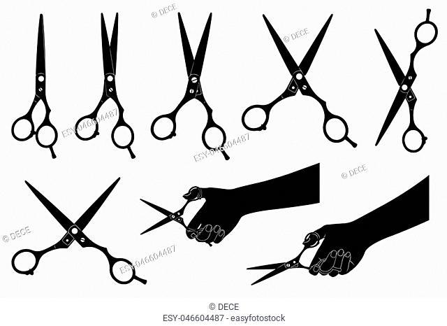 Illustration of scissors isolated on white