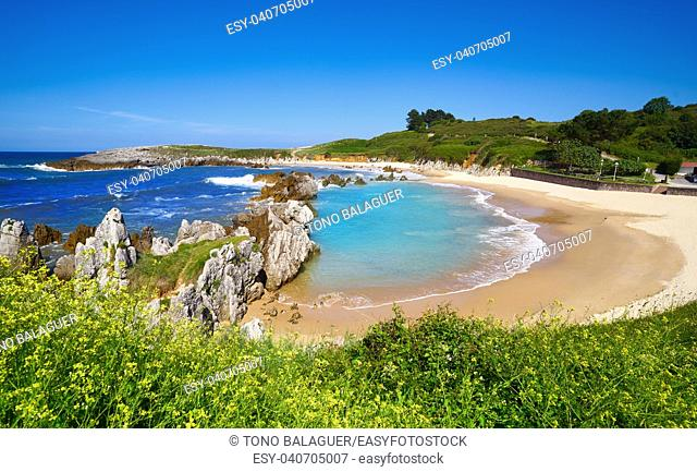 Playa de Toro beach in Llanes of Asturias Spain