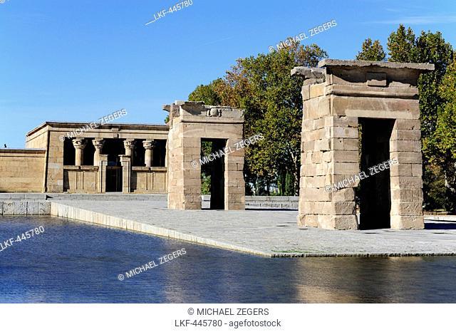 Egyptian temple from antiquity, Templo de Debod, Parque de la Montana, Arguelles, Madrid, Spain