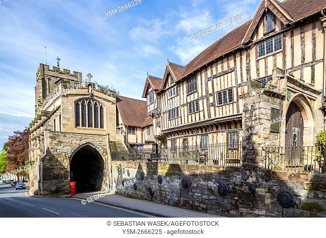 Lord Leycester hospital by the west gate, Warwick, Warwickshire, England, United Kingdom, Europe