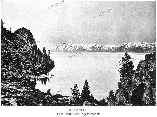 Lake Tahoe, California, nature, water, historical