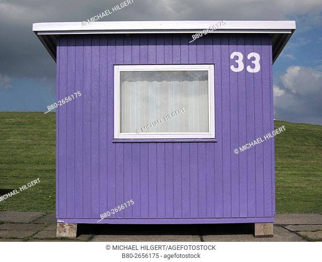 Weather, bath cabin, Dagebüll, Germany, Europe