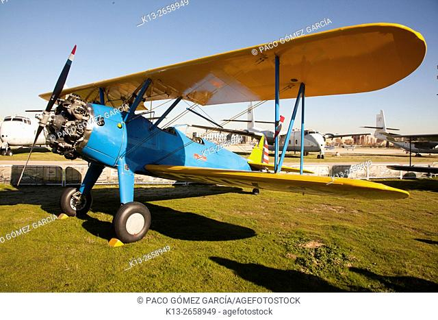 Boeing Stearman Kaydet. Air show in Cuatro Vientos, Madrid. Spain