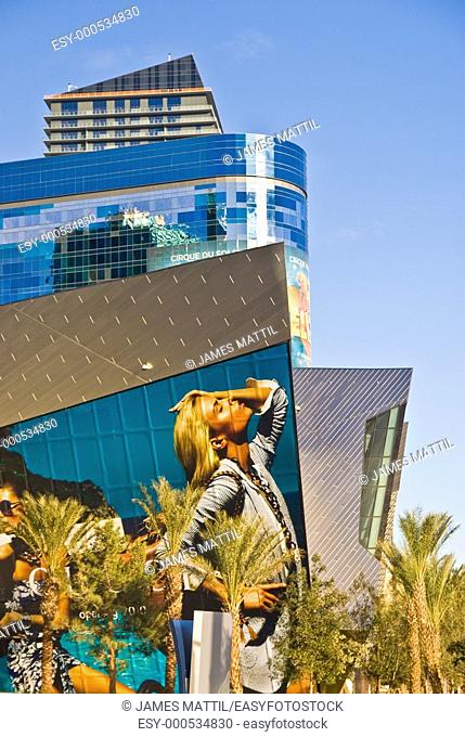 Hyper-scale billboards promote high style fashion at CityCenter in Las Vegas, Nevada