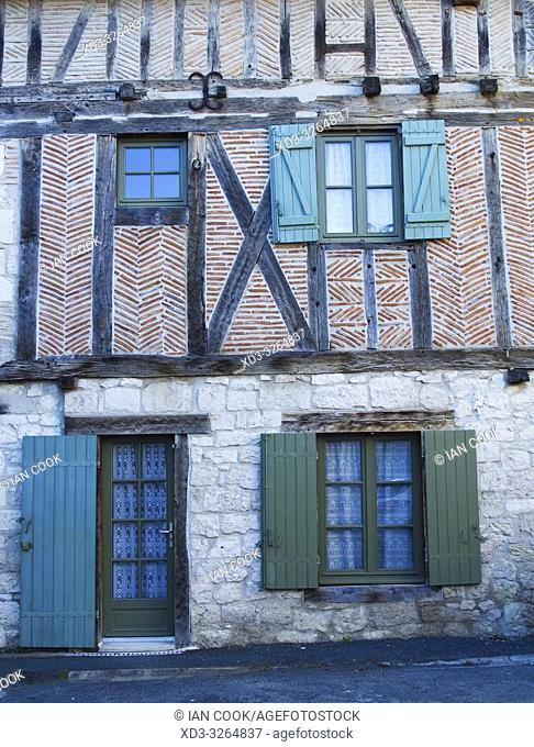 medieval house, Issigeac, Dordogne Department, Nouvelle Aquitaine, France