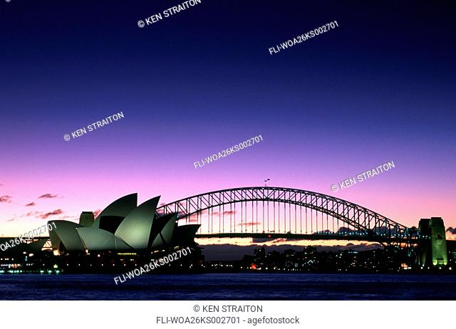 K.Straiton, Sydney Opera House, Harbour Bridge, Night, Sydney, AU