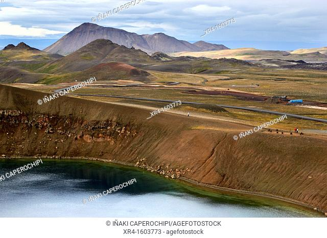 Stora Viti crater lagoon, Krafla Volcanic Zone, Myvatn lake, Iceland