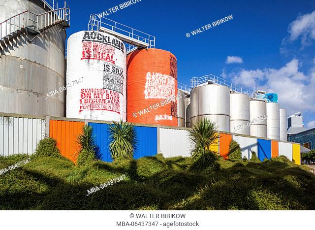 New Zealand, North Island, Auckland, Viaduct Harbour, former grain silos