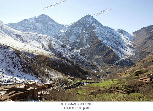 Snow Covered Atlas Mountains  Morocco, North Africa