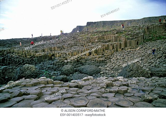 Tourists on the Giant's Causeway