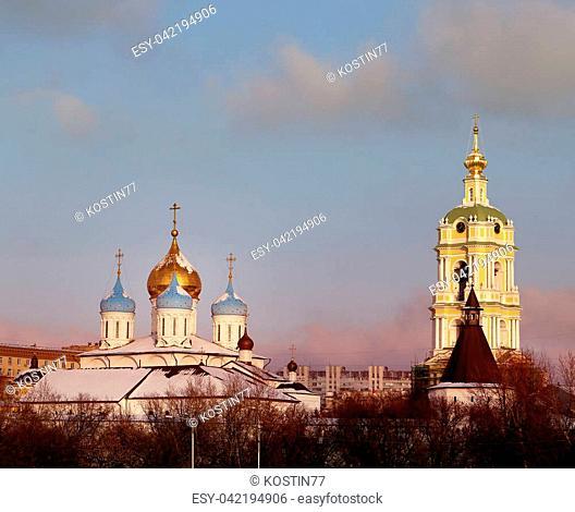 Beautiful photo of Novospassky Monastery in Moscow