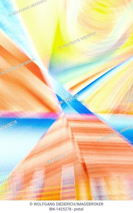 Acrylic painting on a pyramid house, blurred, artist Gerhard Kraus, Kriftel