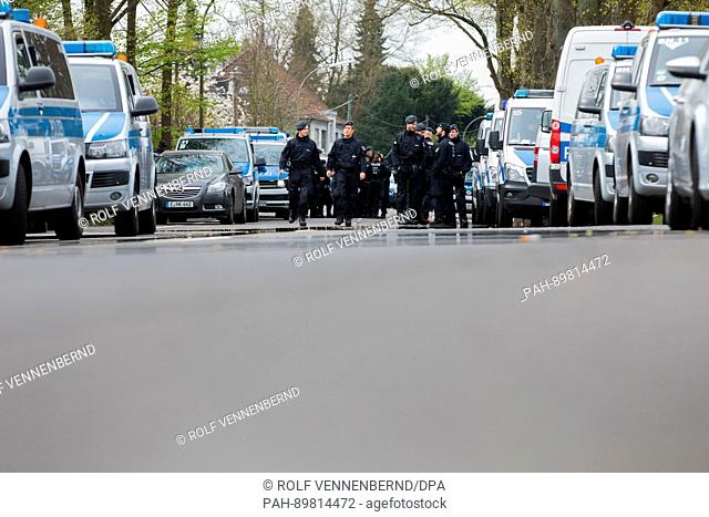 Police officer secure the entrance to the l'Arrivée hotel in Dortmund, Germany, 12 April 2017. Three explosions occurred next to the team bus of the Borussia...