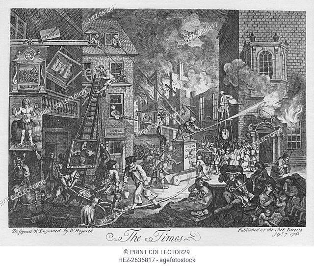 'The Times', 1762. Artist: William Hogarth