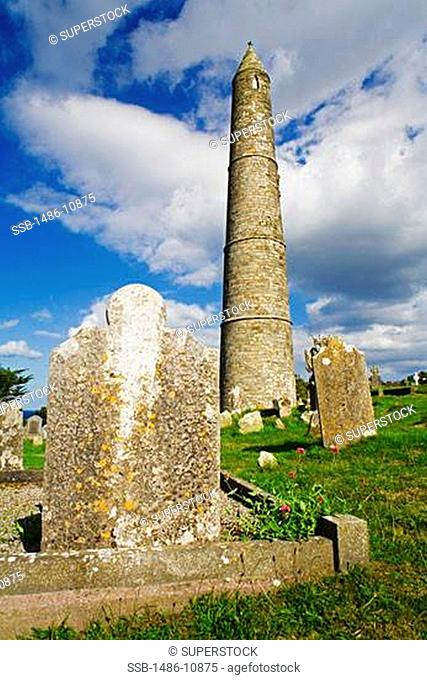 Low angle view of a tower in a church, Ardmore Church And Round Tower, Ardmore, County Waterford, Munster Province, Ireland