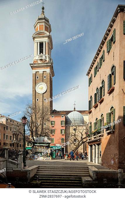 Santi Apostoli church in the sestier of Cannareggio, Venice, Italy