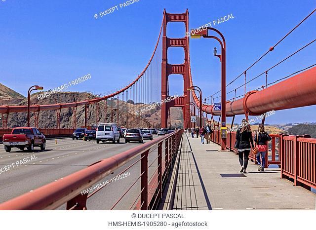 United States, California, San Francisco, Golden Gate National Recreation Area, the Golden Gate Bridge