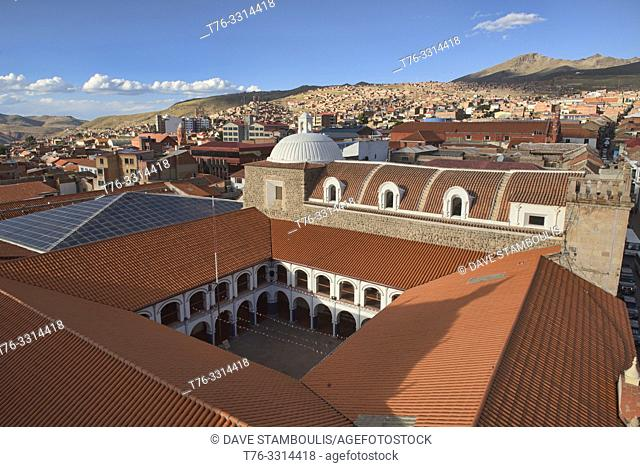 The Pichincha National College seen from the Cathedral Basilica, Potosí, Bolivia