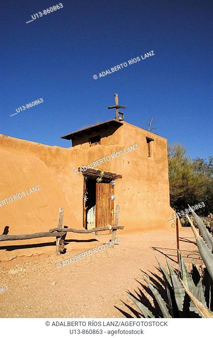 Adobe House at De Grazia Gallery In The Sun, Tucson, Arizona, United States