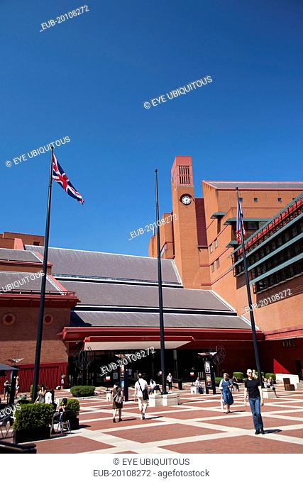 The British Library courtyard Euston Road