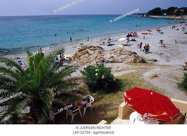 Beachlife, Marina de Vignola, near Ajaccio, west coast, Corsica, France