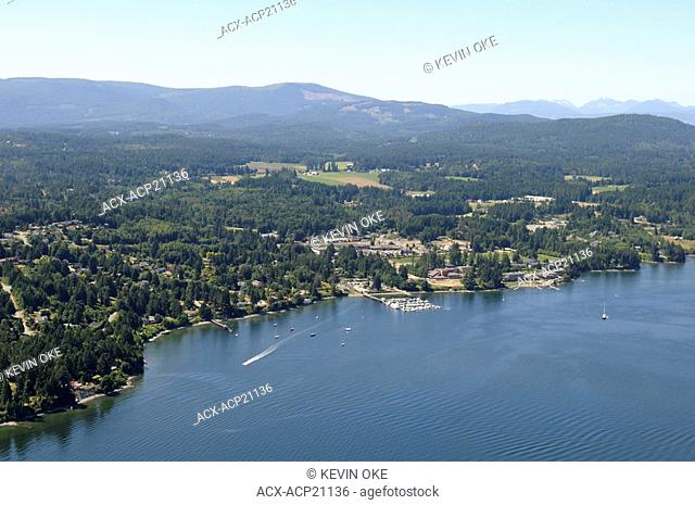Aerial photograph of Mill Bay, Vancouver Island, British Columbia, Canada